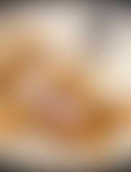 Caramel Peach Souffle Pancake