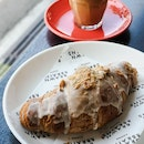 Earl Grey Lavender Croissant with Toasted Hazelnuts and Cream Cheese Filling