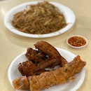 Ngoh Hiang with Bee Hoon Set (+ Fried Chicken Wing)