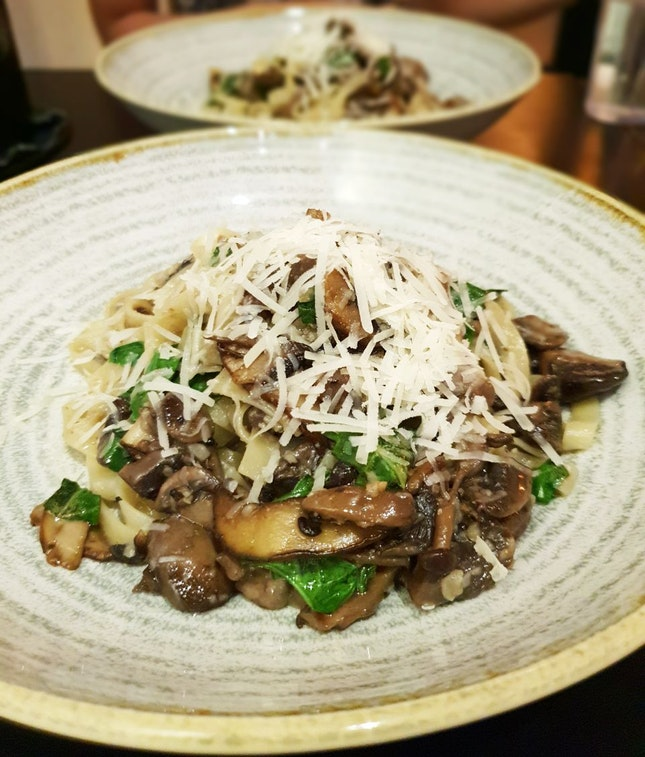Truffle Mushroom Pasta [$14+]