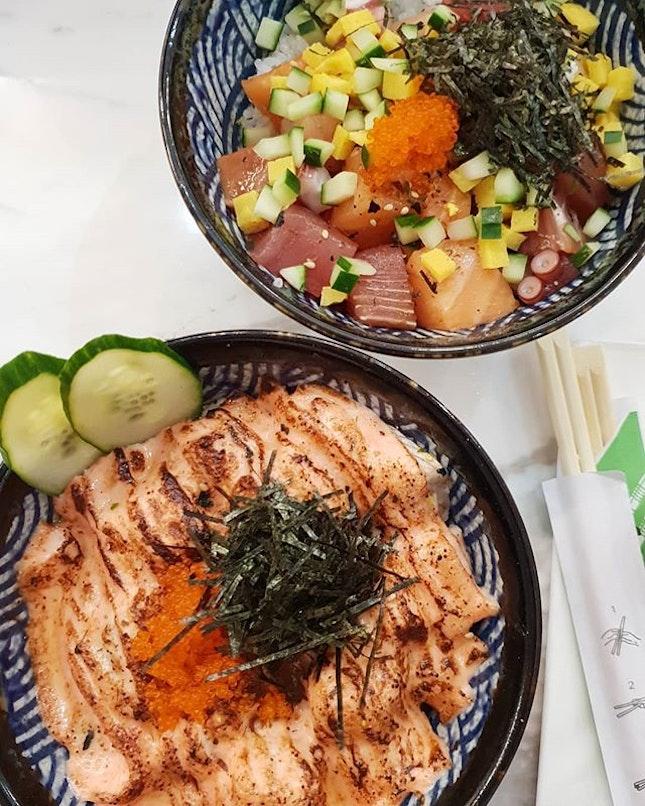 Bara Chirashi Don [$23.90+] x Salmon Mentaiko Don [$23.90+]