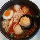 Vinaigrette Ebiko Prawn Paste Noodles in Signature Tomato Soup [$13.90]
