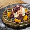 Matcha waffles - [$12.90] 💚🍵🍃 • Waffles anytime, anywhere!