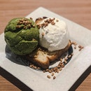 Treating the last day of the week right with @hvala_sg TODAY'S SPECIAL: Buttery and crisp toast with Matcha & Hokkaido Milk gelato - SGD10+ 🍃 • Indulge in this decadent treats, will end your meal on a high note.