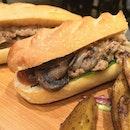 Sauteed Beef with Mushrooms Sandwich and Wedges on the side  @igsg #igsg #singapore #foodpornasia #burpple #setheats #eatoutsg #sgfood #foodsg #sgfoodie #singaporeeats @singaporeeats #paulsg #paulsingapore #frenchbakery #beef #sandwich