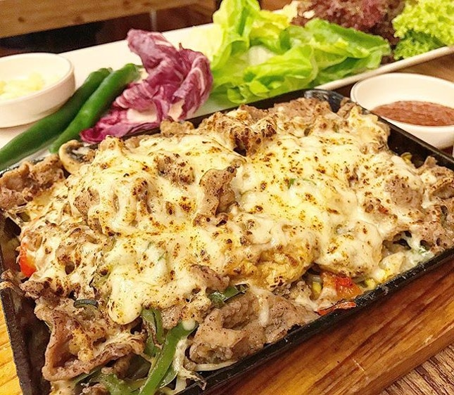 saw Spicy Cheese Chicken on the menu but requested for uber cheesy beef  instead, which the Head Chef very obligingly got the kitchen made.