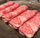 if you've lost your marbles, they're probably on these beautifully spotted and striped Wagyu Beef and Kurobuta Pork Belly for our Shabu Shabu and Sukiyaki.