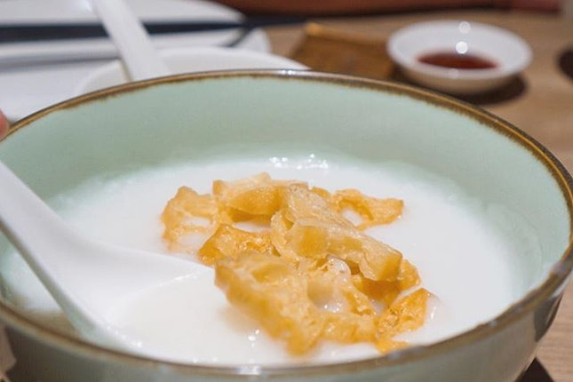 The porridge here is cooked until very smooth.