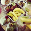 Fruits party in office🍒🍓🍎🍌