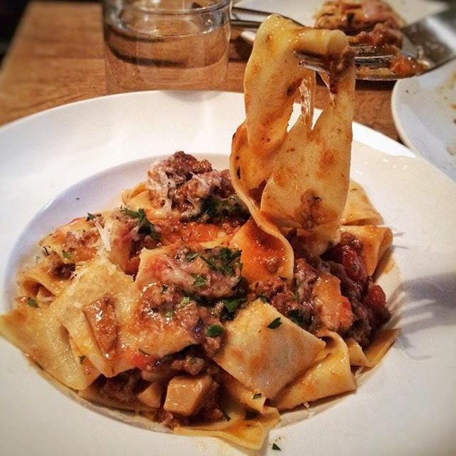 Pappardelle al Ragu ($26)  A #throwback to last week's rustic, soul-warming goodness.