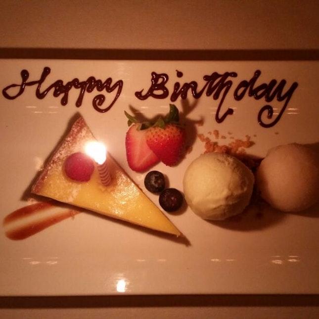 My Complimentary Birthday Platter