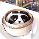 Chocolate Custard Panda Bao [$2.90]
