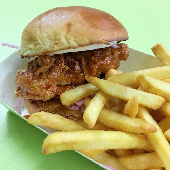 Seoul Fried Chicken Burger [$5]