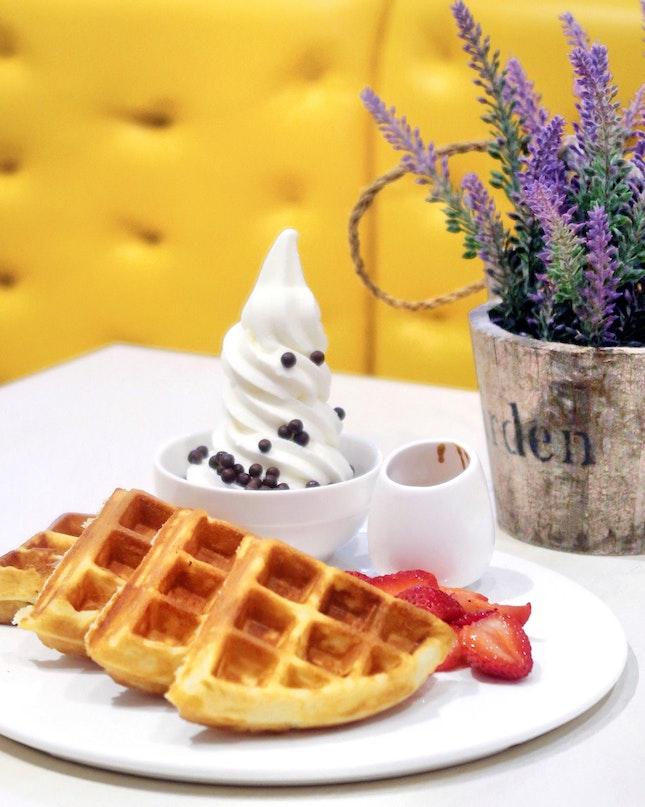 Belgian Waffle with Yogurt [$8.90]