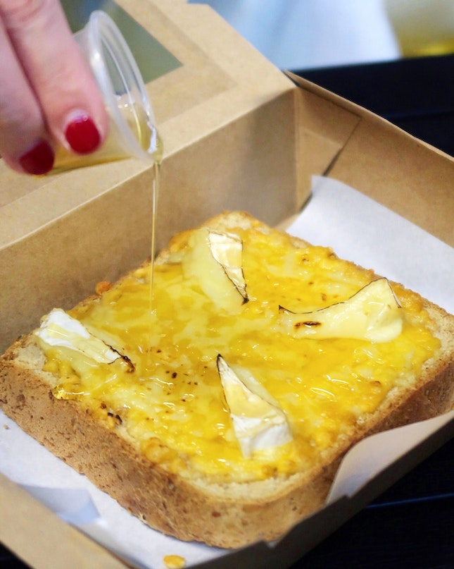 Honey Cheese Toast [$8.90]
