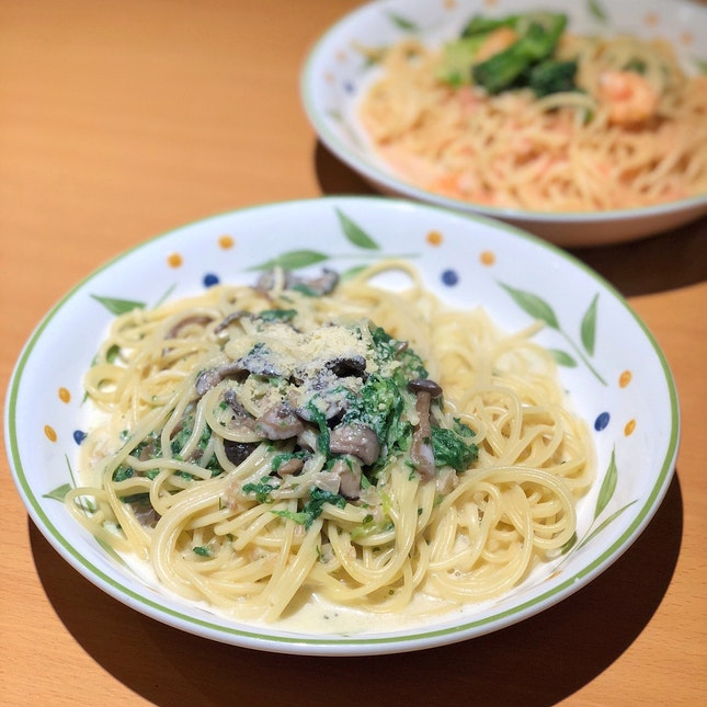 Mushroom Spinach Cream [$6.90]