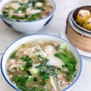 Batang Sliced Fish Soup + Minced Meat [$6 + $0.50]
