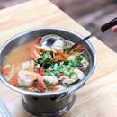 Tom Yum Nam Sai Talay Lek - Clear Tom Yum Seafood Small [$12]