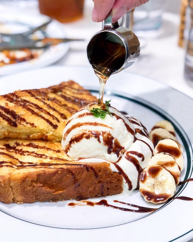 French Toast of Chocolate Banana [$15.90]
