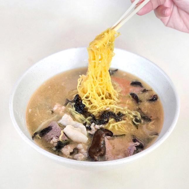 Minced Meat Noodle Soup 肉脞面汤 [$5/$6]