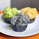 Black Sesame Steamed Cake 黑芝麻发糕 [$1.30]