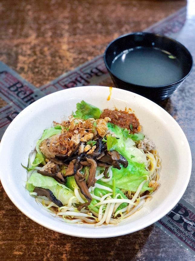Mushroom Minced Meat Noodle 香菇肉脞面 [$4]