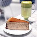 Salted Caramel Mille Crepe Cake [$11]