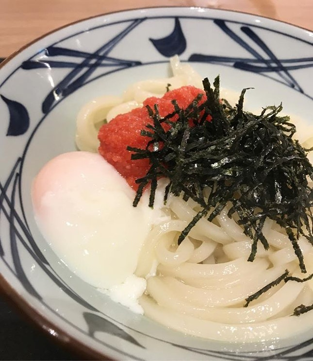 An egg and udon lover's dream come true at Marugame Udon ♥️ .