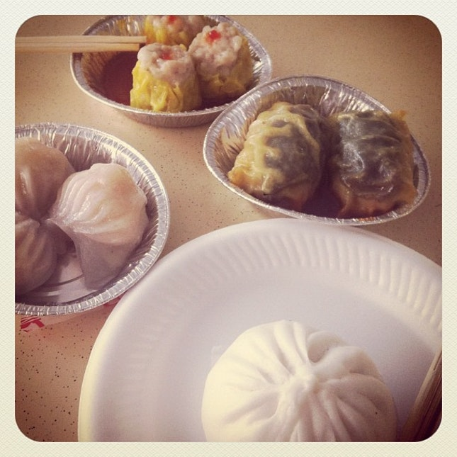 Morning dim sum with the father.