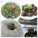 Dinner at royal j seafood - 👍 fried porridge (small portion for $6), 生米粉 ($6), and crispy garlic chicken ($12).