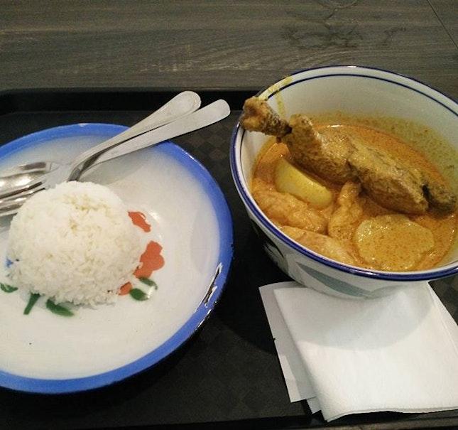 Hainanese curry chicken rice ($8.80).