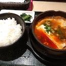 Chicken sundubu soup for lunch!