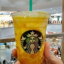 Mango cream drink from #starbuckssg .