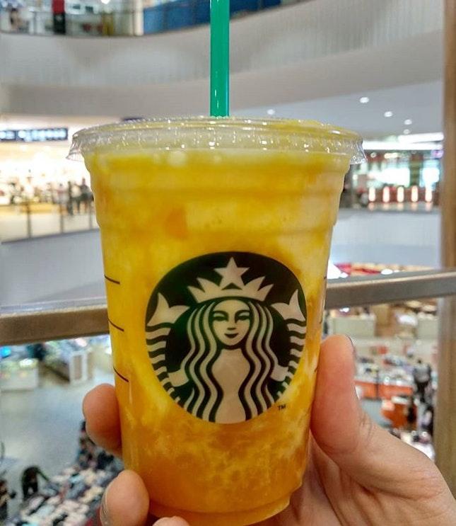 Mango cream drink from #starbuckssg .