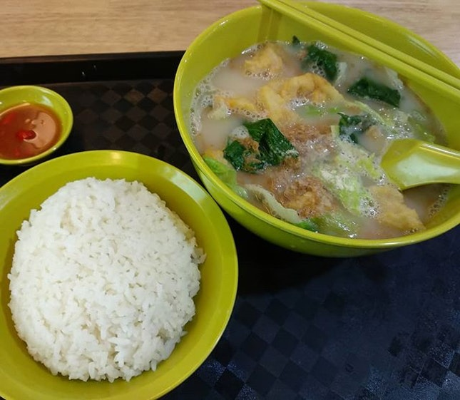 Marsiling teochew fish soup ($5.50) for lunch!