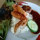 Finally tried the legendary nasi lemak from Changi Village!