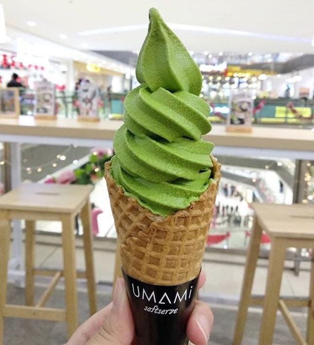 Matcha ice cream (rm12) and mochi platter (rm18+)!