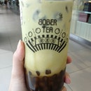 We tried the brown sugar boba with matcha latte too!