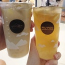 Muyoo again since it was the only bubble tea stall on burpplebeyond at raffles city and we were sooo thirsty that night.