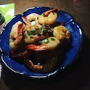Butter garlic shrimps.