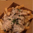 Pulled Pork Fries w 3-cheese sauce