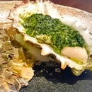Craving for some oiishi Japanese dishes especially this grilled oyster from Hide Yamamoto.