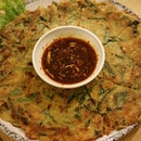 Seafood Pancake from 2D1N Soju Bang.