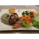 Olive Rice with Grilled Dory Fish with side salad.