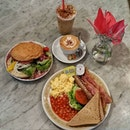 Our brunch from The Orange Thimble.