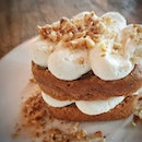 Carrot Cake by @cafemelbasingapore A different style of carrot cake from the usual ones I had.