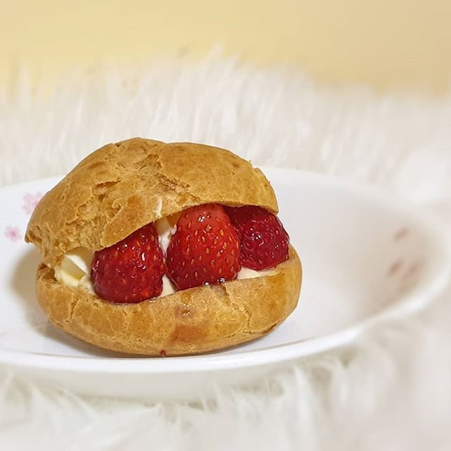 Cream Puff a filled French choux pastry ball with sweet and moist filling of whipped cream, custard, pastry cream, or ice cream.