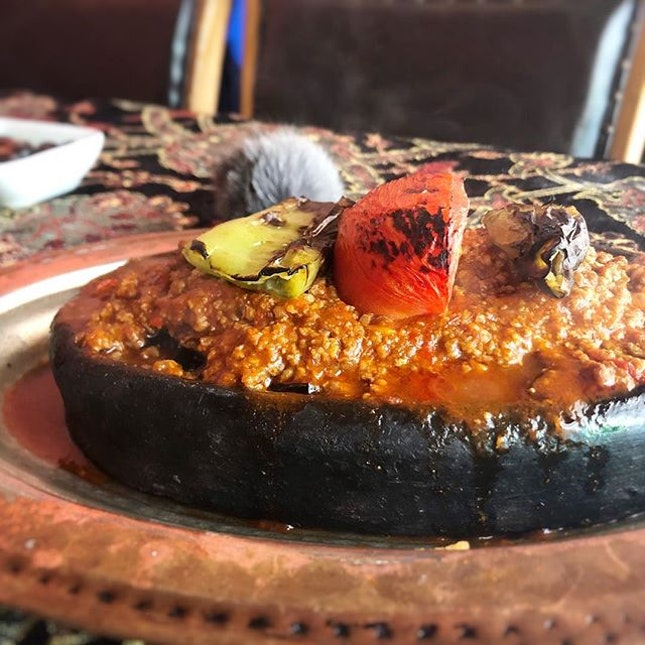 Steaming hot Ottoman-style moussaka, and a delish traditional semolina dessert!