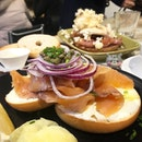 Tried the NY Lox bagel and the bacon, maple, banana bagel, both of which were awesome!
