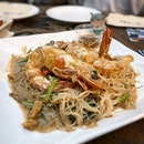 King prawn white bee hoon with lots of wok-hei!!